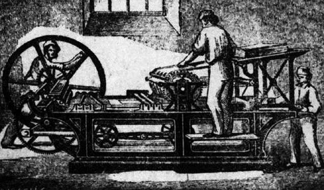 Historia de la imprenta-Maquina