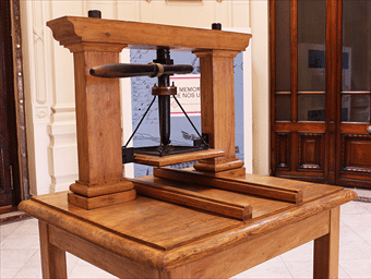Historia de la imprenta-Imprenta en Chile