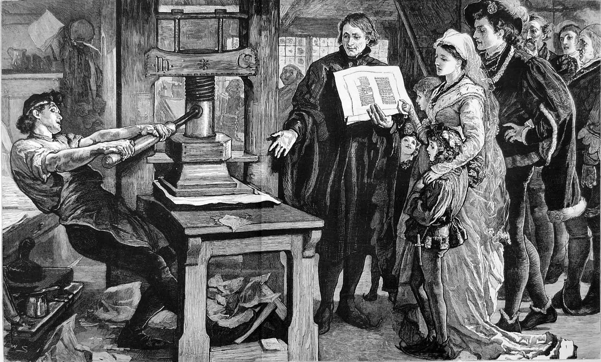 Historia de la imprenta-Imprenta en Europa