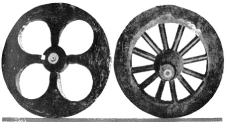 Historia de la rueda y sus clases-Primeras ruedas