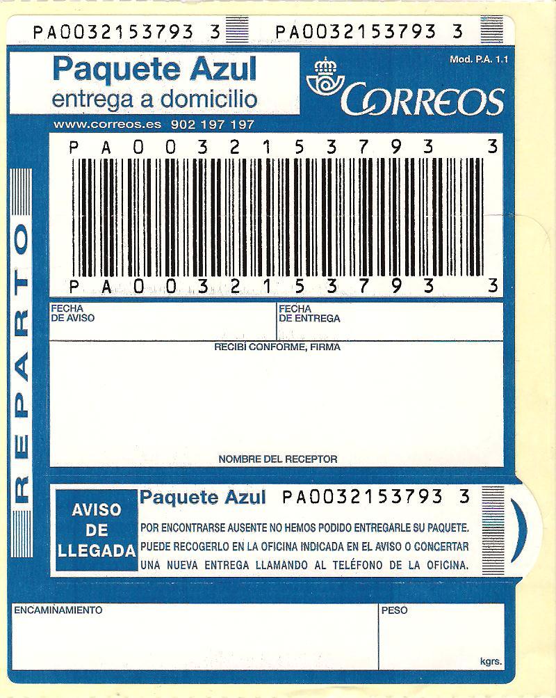 Correo certificado rastreo