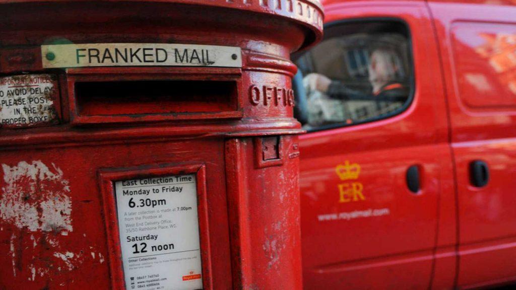 correo postal en Londres