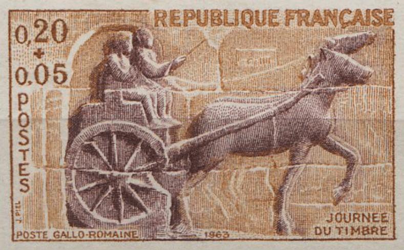 correo postal en Roma, antiguo