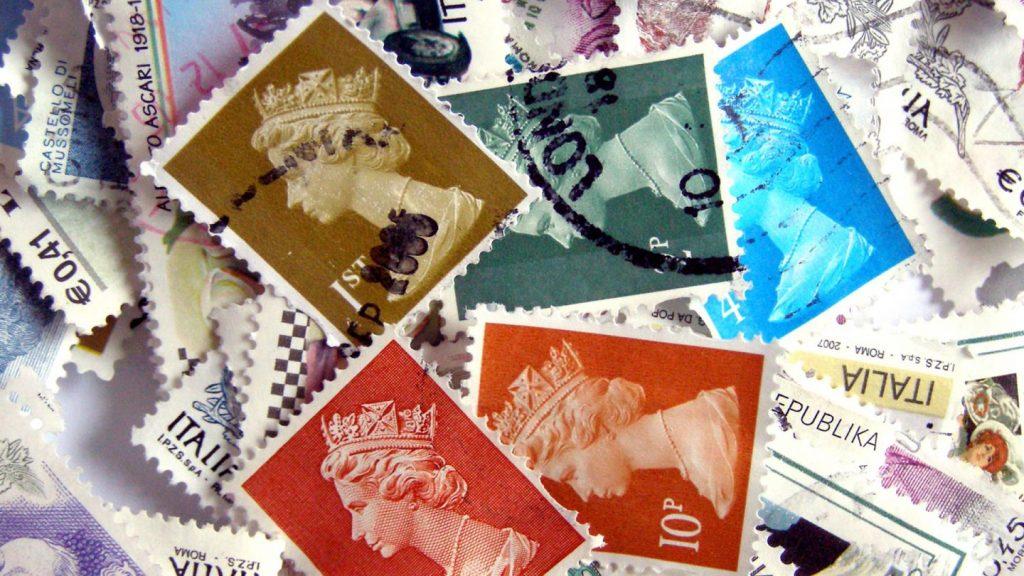 correo postal, estampillas