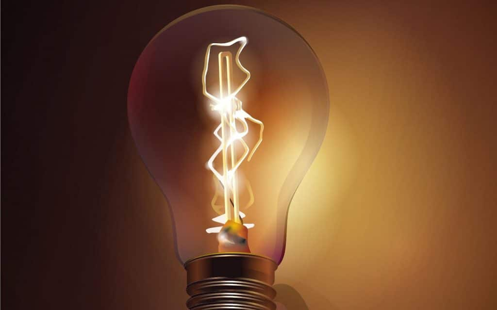 história da eletricidade, a lâmpada