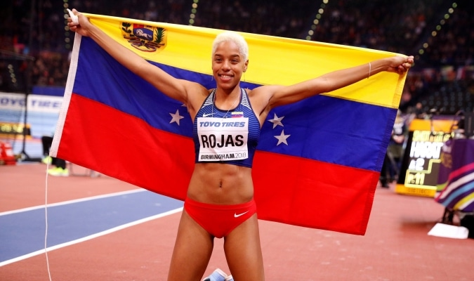 medallista olímpica Yulimar Rojas