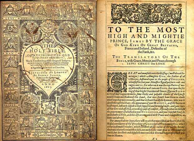 dedicatoria al rey james