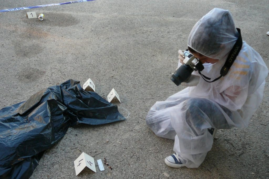 historia de la fotografía escena del crimen