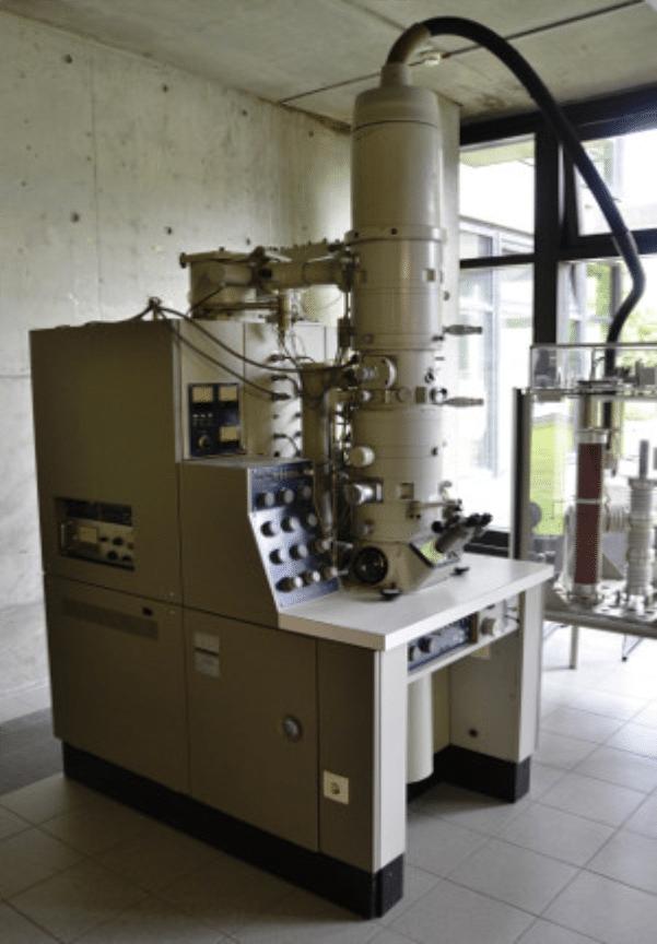 historia del microscopio MET
