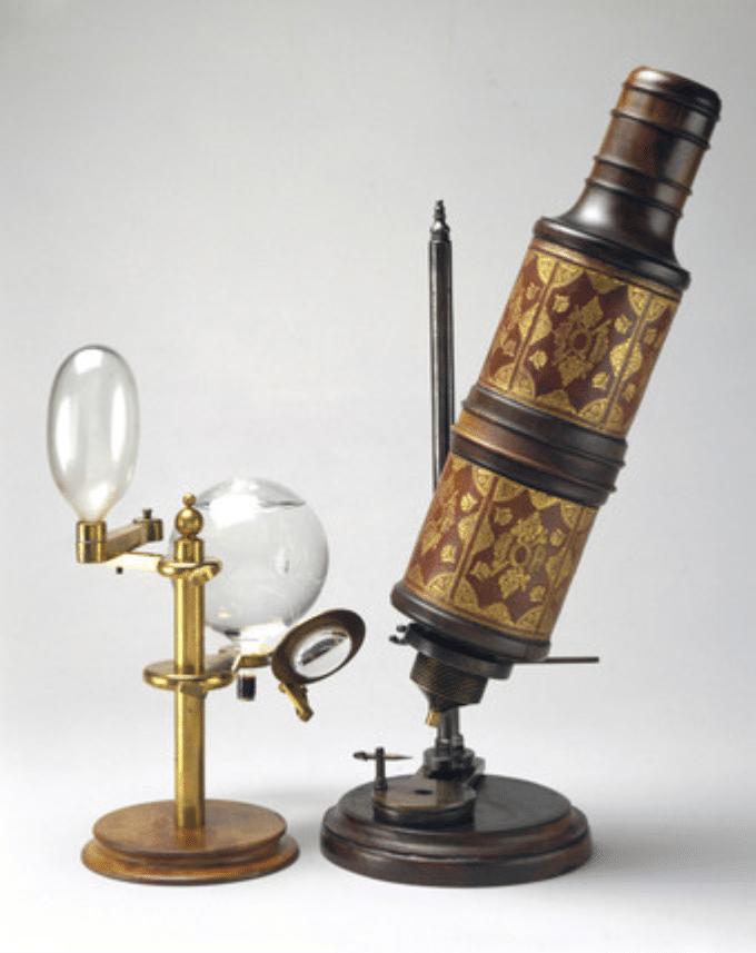 historia del microscopio de Hooke