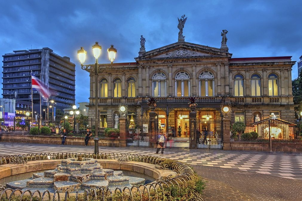 historia del teatro Nacional de Costa Rica: fachada