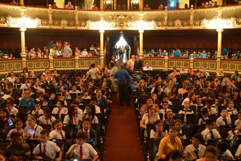 interior, historia del teatro nacional de Costa Rica