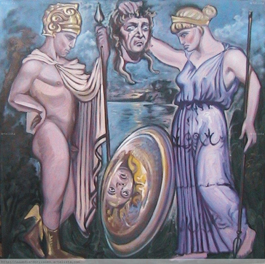 Historia de Medusa-Medusa y Atenea