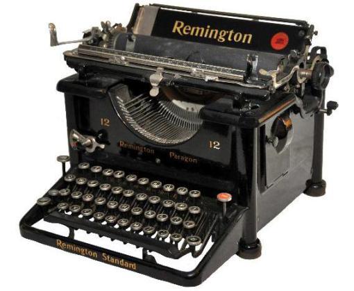 histotia de la maquina de escribir