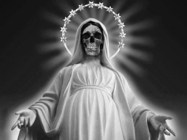 La historia de la santa muerte: blanca, roja, y mas