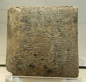 tabla de barro de Sumeria