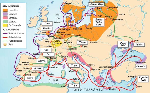 principales rutas comerciales en europa