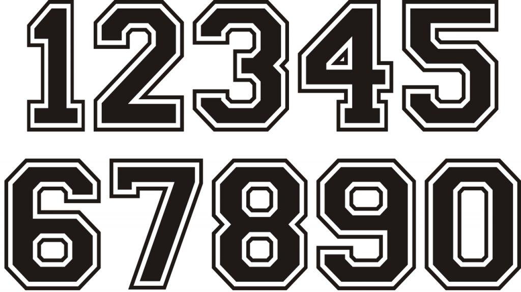 Portaoggetti Design Letters Numbers : Historia de los números naturales enteros racionales