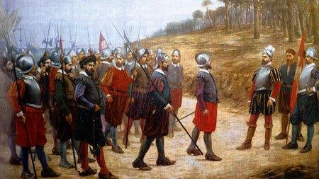 historia de Perú,batalla de Pizarro y almagro