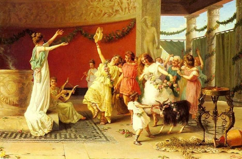 historia de la danza en la antigua Roma