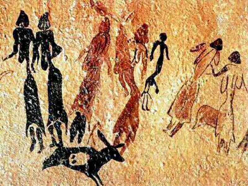la historia de la danza y las pinturas rupestres