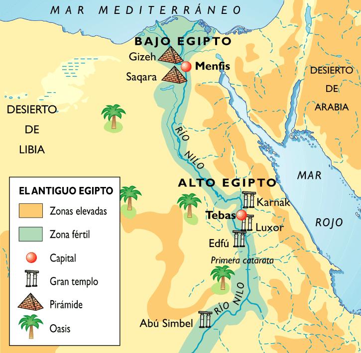 mapa de Egipto y las danzas