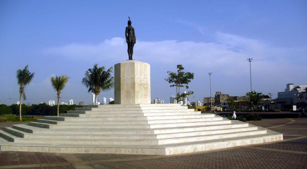estatua de la india catalina
