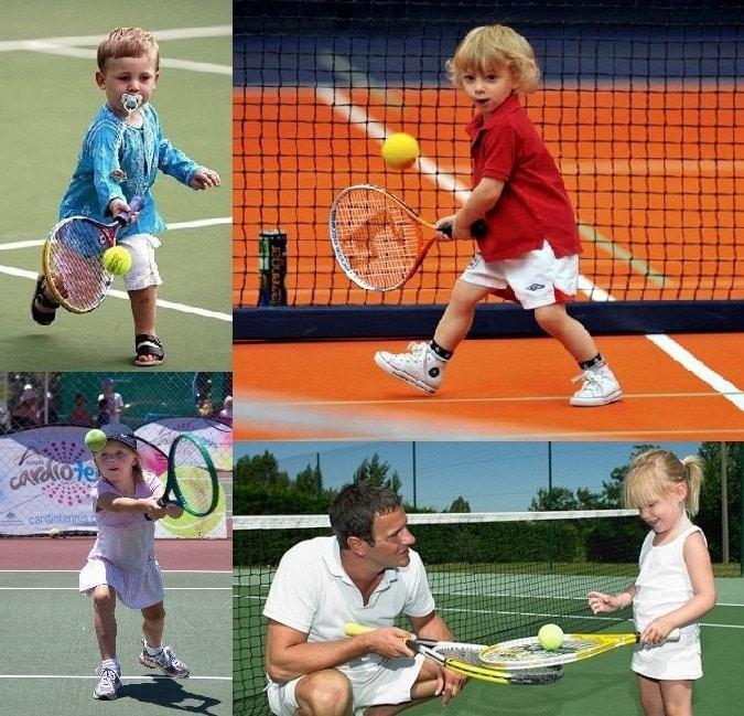 niños practicando